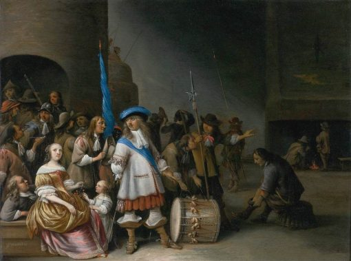 Interior of a Guardroom | Anthonie Palamedesz | Oil Painting