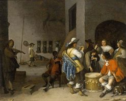 Scene in a Guardroom Interior | Anthonie Palamedesz | Oil Painting