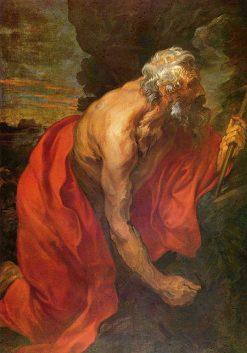 Penitent Saint Jerome   Anthony van Dyck   Oil Painting