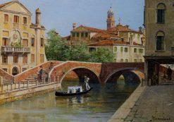 A Venetian Bridge | Antonietta Brandeis | Oil Painting