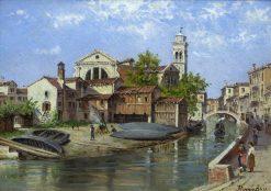Venetian Canal | Antonietta Brandeis | Oil Painting