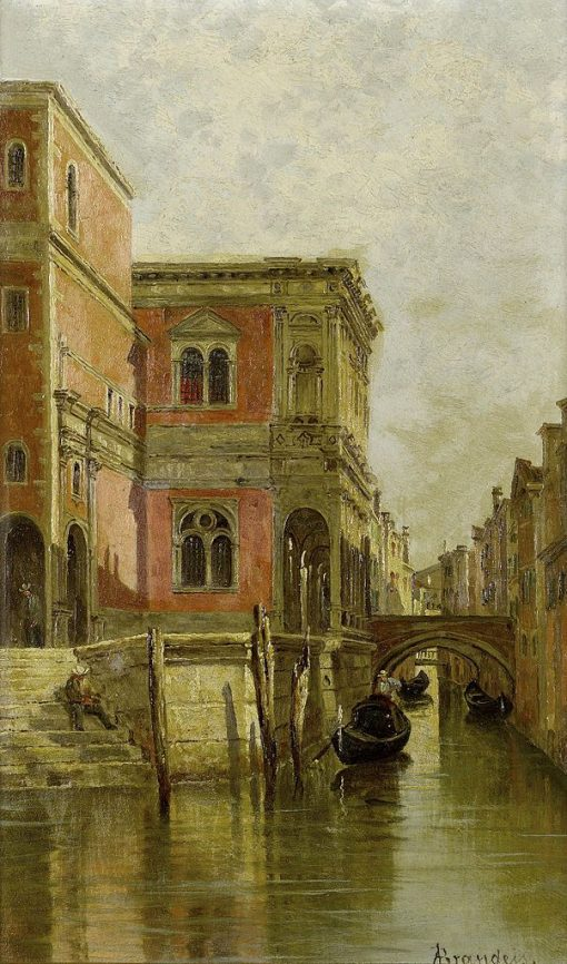 A Venetian Canal   Antonietta Brandeis   Oil Painting