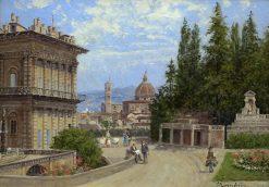 Gardens in Florence | Antonietta Brandeis | Oil Painting