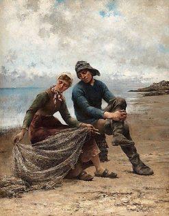 On the Beach | August Wilhelm Nikolaus Hagborg | Oil Painting