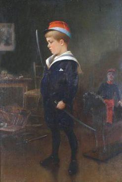 Portrait of Jean Hagborg aged six | August Wilhelm Nikolaus Hagborg | Oil Painting