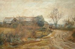 Farmstead with Horse and Ducks | Benjamin Fisher | Oil Painting