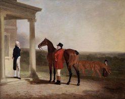 Captain Barrington Price with His Favourite Hunter | Benjamin Marshall | Oil Painting