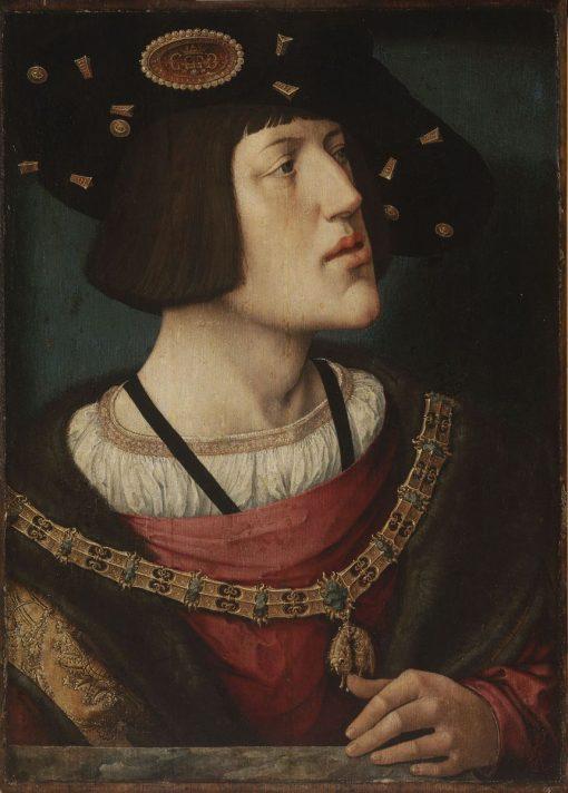 Portrait of Charles V(also known as Portrait de Charles Quint) | Bernaert van Orley | Oil Painting