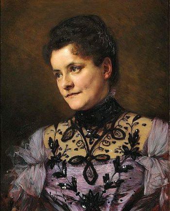 Portrait of Johanne Bojesen (nee Bagger) | Bertha Wegmann | Oil Painting