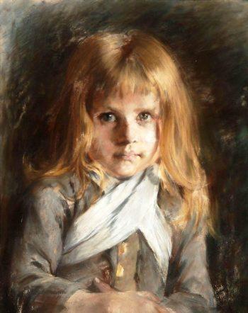 A Girl | Bertha Wegmann | Oil Painting