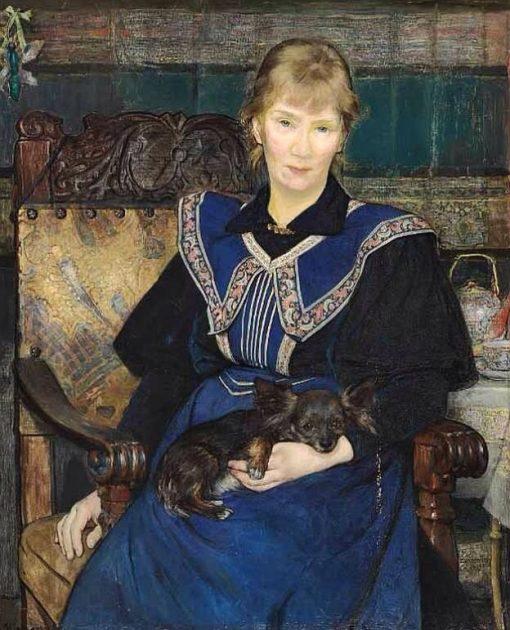 Portrait of Jeanna Bauck   Bertha Wegmann   Oil Painting