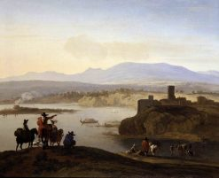 Italianate Landscape with Travellers on Horseback | Carel Dujardin | Oil Painting