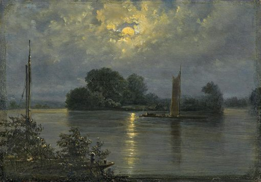 Full Moon at Pillnitz | Carl Gustav Carus | Oil Painting