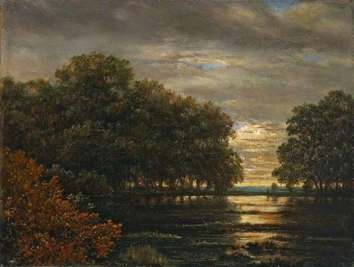 Landscape near Leipzig | Carl Gustav Carus | Oil Painting