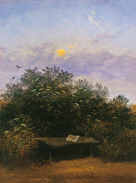 Late Afternoon Study with a Book on a Table | Carl Gustav Carus | Oil Painting