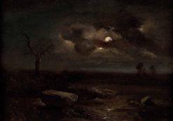 Moonlit Landscape | Carl Gustav Carus | Oil Painting