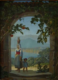 Italians in Sorrento | Carl Gustav Carus | Oil Painting