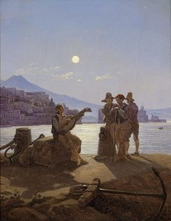 Italian Fishermen in the Port of Naples | Carl Gustav Carus | Oil Painting