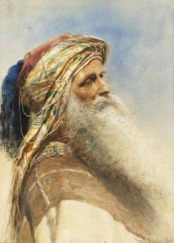 A Bearded Tribesman | Carl Haag | Oil Painting