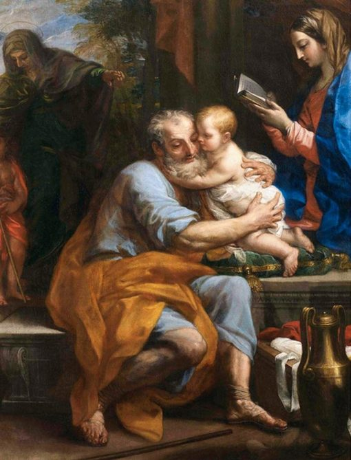 Holy Family: St Joseph with the Christ Child | Carlo Maratta | Oil Painting
