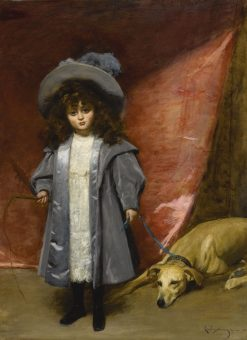 Child and Dog(also known as Enfant et chien) | Charles Auguste Emile Durand | Oil Painting