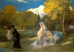 After the Swim | Charles Auguste Emile Durand | Oil Painting