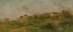 Vaches au paturage a Villerville (Cows on Pasture at Villerville) | Charles Francois Daubigny | Oil Painting