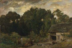 Le Tonnelier | Charles Francois Daubigny | Oil Painting