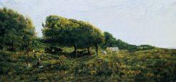 Paysage a Villerville | Charles Francois Daubigny | Oil Painting