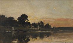 Sunset | Charles Francois Daubigny | Oil Painting