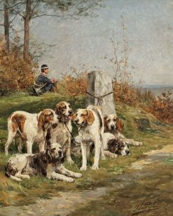 Foxhounds | Charles Olivier de Penne | Oil Painting