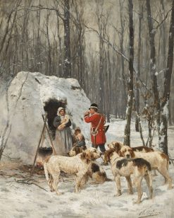 Foxhounds in the Winter | Charles Olivier de Penne | Oil Painting