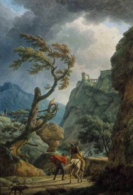 Soldiers in a Mountain Gorge during a Storm | Claude Joseph Vernet | Oil Painting