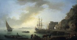 Mediterranean Port at Dawn | Claude Joseph Vernet | Oil Painting