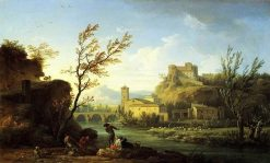 Italianate River Landscape | Claude Joseph Vernet | Oil Painting