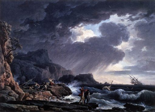 Nocturnal Seastorm | Claude Joseph Vernet | Oil Painting