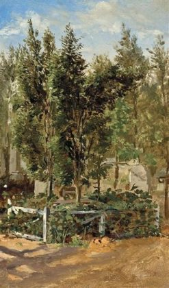 A Paris Garden | Conrad Wise Chapman | Oil Painting