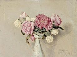 Study of Roses(also known as Roses in a Vase) | Conrad Wise Chapman | Oil Painting