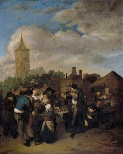 Village Market with the Quack | Cornelis Pietersz Bega | Oil Painting