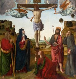The Crucifixion with Madonna and Saints   Cosimo Rosselli   Oil Painting