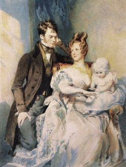 Portrait of Mr. and Mrs. MacGregor with their Child | Daniel Maclise