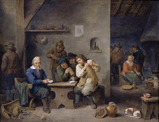 Figures Gambling in a Tavern | David Teniers II | Oil Painting