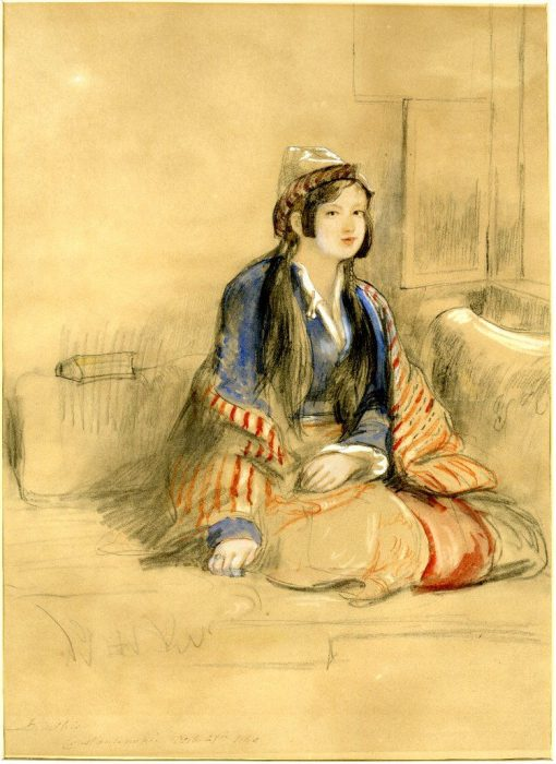 A seated woman of Constantinople | David Wilkie | Oil Painting