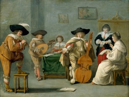 A Musical Performance | Dirck Hals | Oil Painting