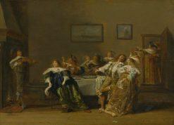An Elegant Company in an Interior   Dirck Hals   Oil Painting