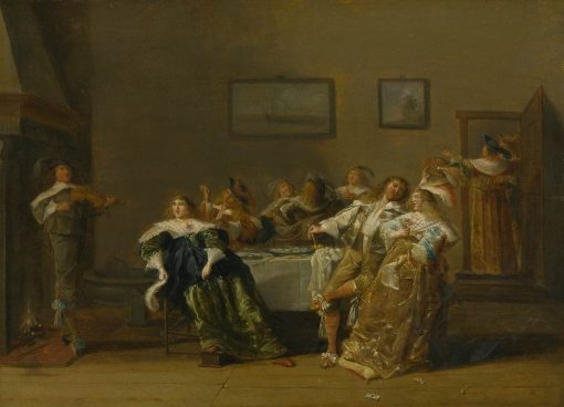 An Elegant Company in an Interior | Dirck Hals | Oil Painting
