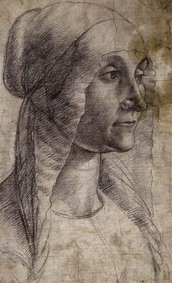 Bust-Length Woman Wearing a Coif | Domenico Ghirlandaio | Oil Painting