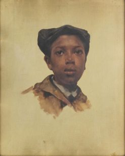 Unfinished Portrait of a Negro Boy | Eastman Johnson | Oil Painting