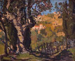Riviera Landscape | Edgar Alwyn Payne | Oil Painting