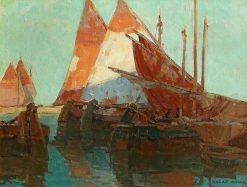 Chioggia Boats | Edgar Alwyn Payne | Oil Painting